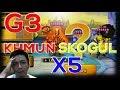 [ENG SUB] G3 Khmun Skogul Siege Battle Defense x5 - Summoners War Indonesia