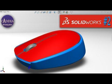 solidworks mouse design tutorial | class a surface finish part 2 thumbnail