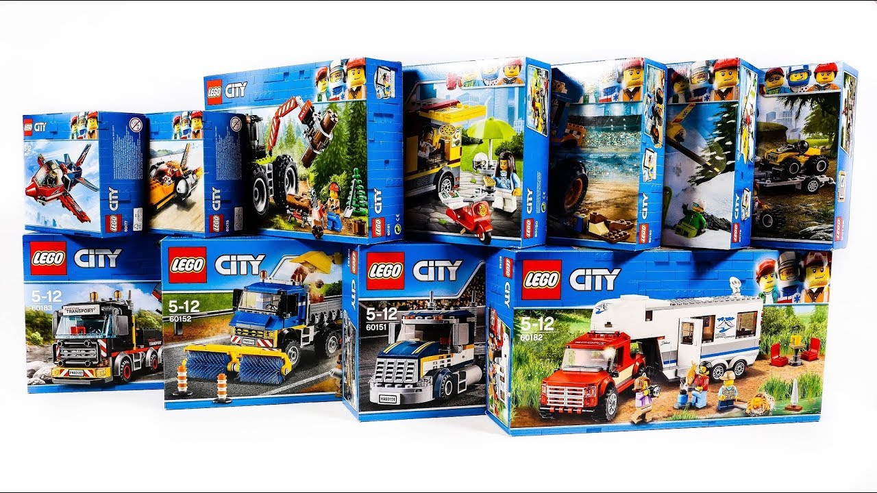 LEGO CITY GREAT VEHICLES 2018 COLLECTION/COMPILTATION ...