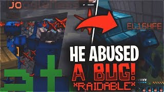 HE GOT SET RAIDABLE FOR ABUSING A BUG... *BANNED*   Minecraft HCF
