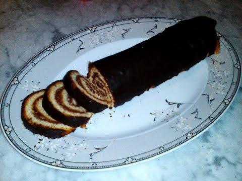 gâteau-roulé-au-chocolat-كعكة-بالشكلاطة