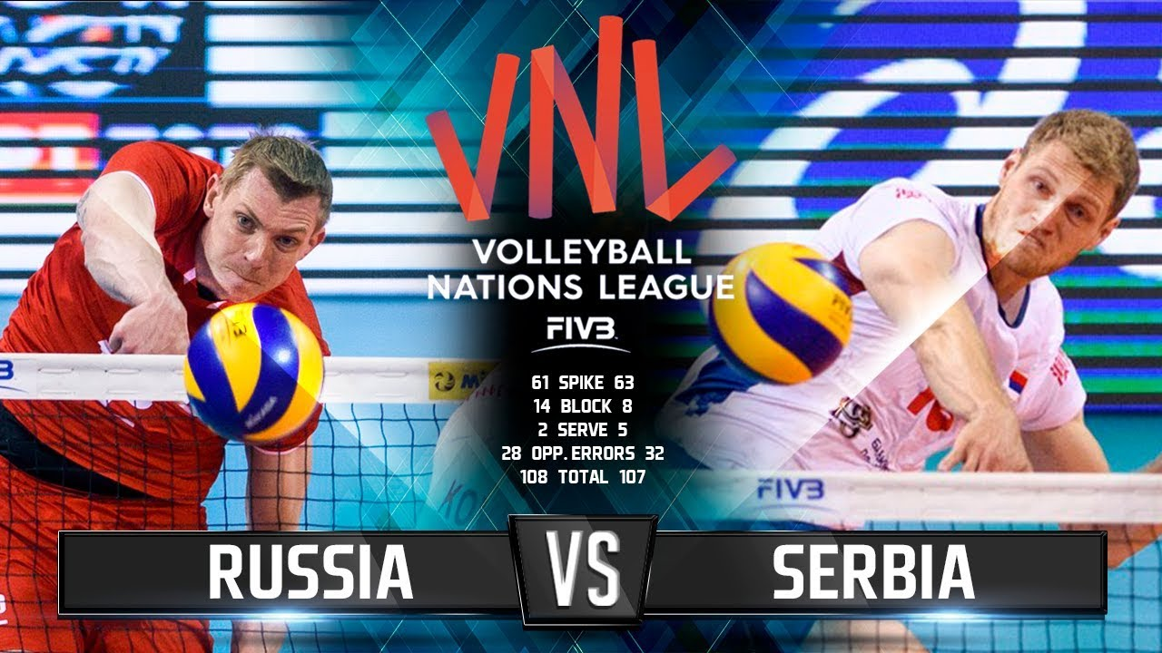Лига Россия 2019 Сербия|| Волейбол Россия/Против | смотреть спорт онлайн волейбол