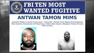 Wanted by the FBI: Reward Available for Ten Most Wanted Fugitive Antwan Mims