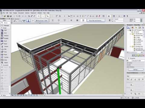 Exporting an architectural model from ArchiCAD