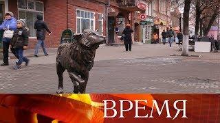 В Челябинске открыли памятник псу, который два года на одном месте ждал своего хозяина.