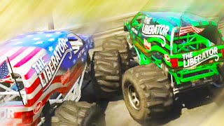 GTA 5 Funny Moments - Worst Monster Truck Race Ever - (GTA V Online Gameplay)