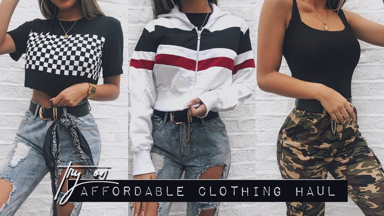 83615283f7e73 AFFORDABLE TRY ON CLOTHING HAUL - Summer 2018 - YouTube
