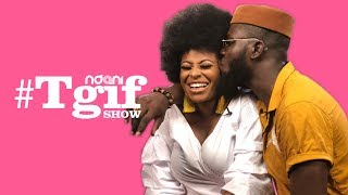 Ronke Raji and her beau Arthur Adeola on the NdaniTGIFShow