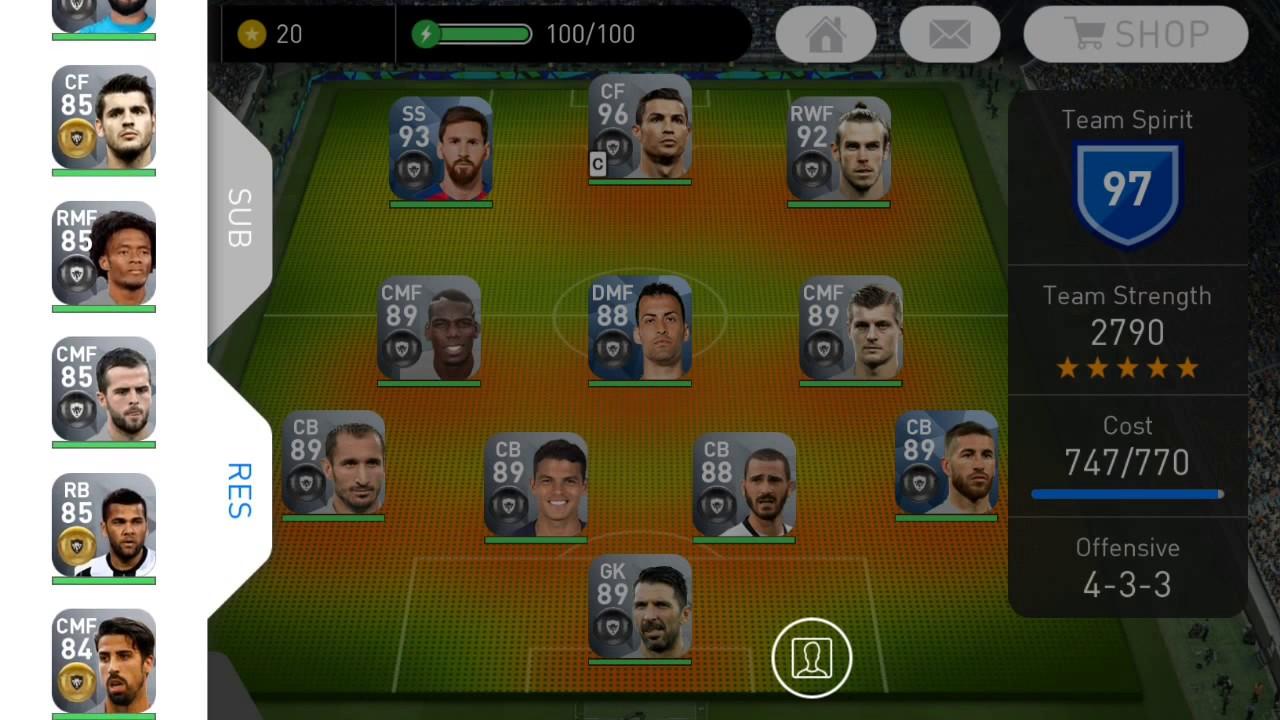 BLACKBALL Team Squad (team strength 2790) - Pes 2018 mobile