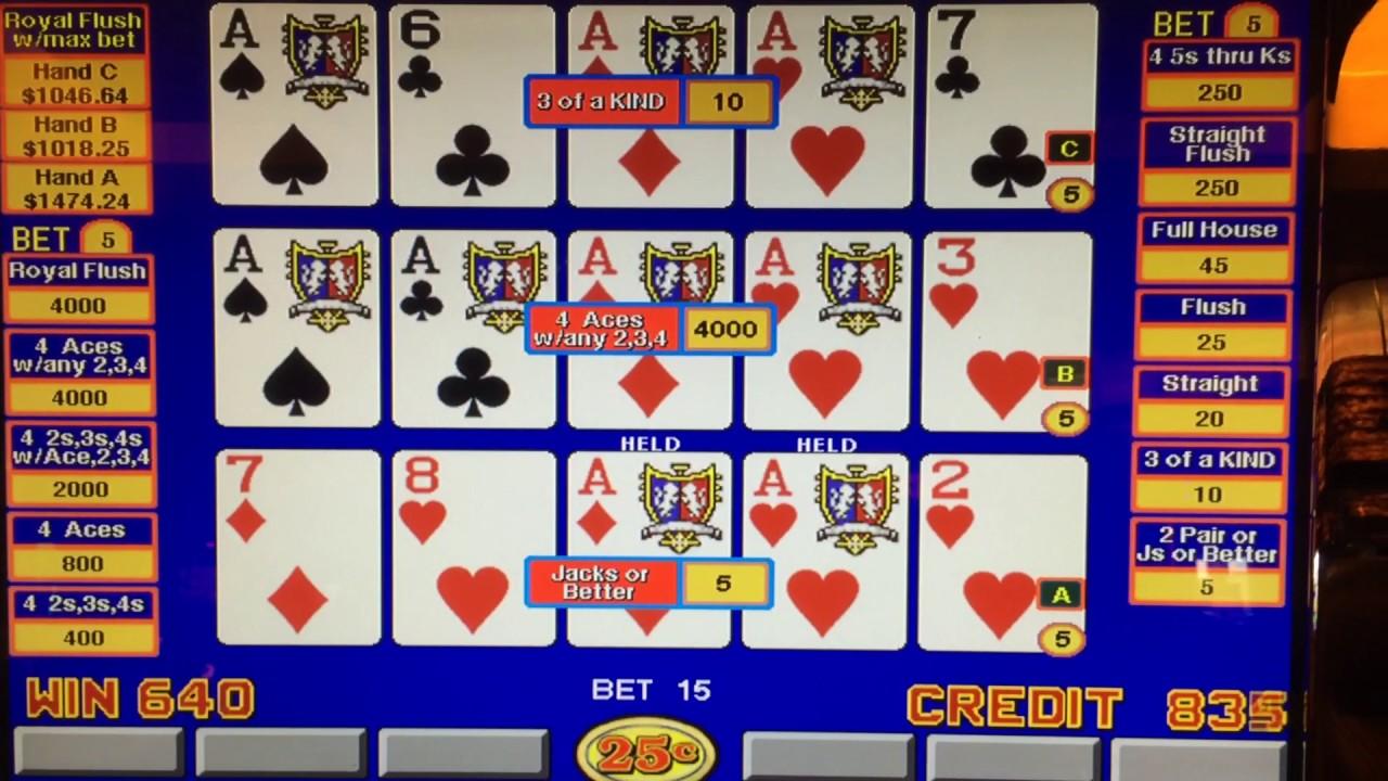 Triple Double Video Poker