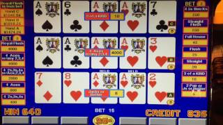 Live Video Poker Expert Strategy For 9 6 Jacks Or Better With 4oak And Straight Flush From Casino Demonstrating On A