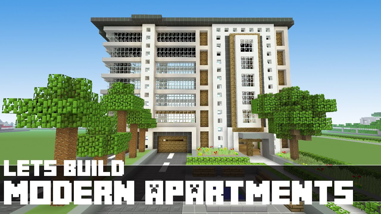 Minecraft   Letu0027s Build Modern Apartments   Part 1   YouTube