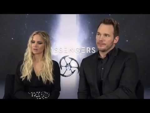 "Jennifer Lawrence and Chris Pratt answer questions about ""Passengers"" - Berlin"
