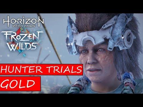 HORIZON ZERO DAWN The Frozen Wilds DLC - GOLD IN ALL HUNTER TRIALS ON HARD
