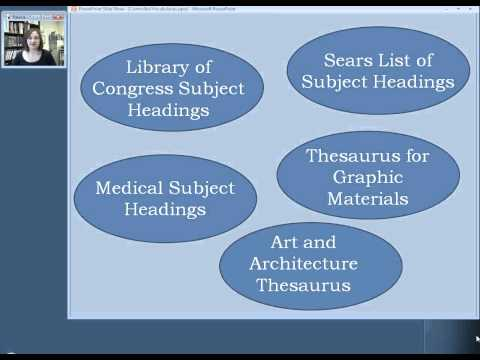 Library of Congress Subject Headings: Lesson 1, Section 2