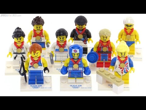 LEGO Team GB London Olympics 2012 figure collection review!