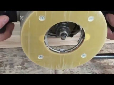 Фрезеровка узора ручным фрезером без шаблона