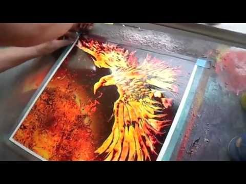 spray paint art by brent willis phoenix feather x youtube. Black Bedroom Furniture Sets. Home Design Ideas