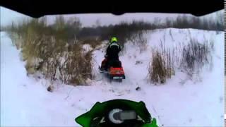 Экстрим снегоходы Снежная поляна ч.1 разведка 11.12.14