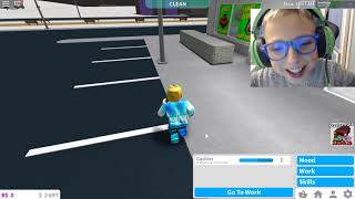 ROBLOX BLOXBURG # WORK in SUPERMARKET # DAVID KETER tests games for kids