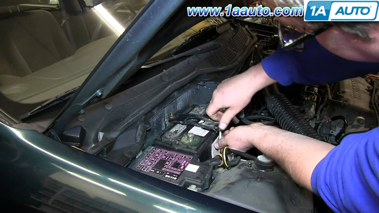 How To Install Replace Dead Battery 19922000 Honda Civic  YouTube