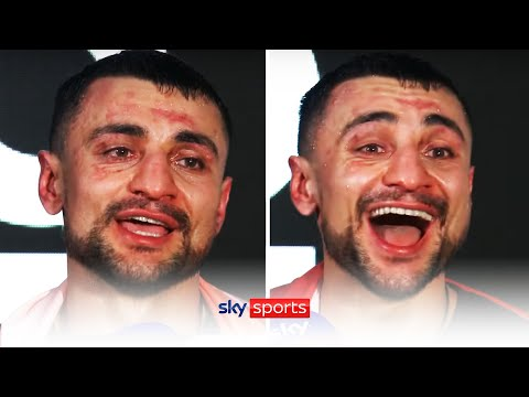 POST-FIGHT! David Avanesyan reacts to stopping Josh Kelly in the 6th round