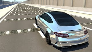 Race Cars, Supercars And Sports Cars VS 100+ Speed Bumps (Real Car Mods) - Beamng Drive