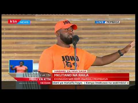 Mombasa Governor Ali Hassan Joho warns the various parties inside NASA to stop internal wrangles