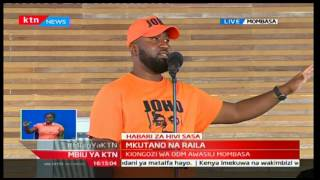 Mombasa Governor Ali Hassan Joho warns the various parties inside NASA to stop internal wrangles