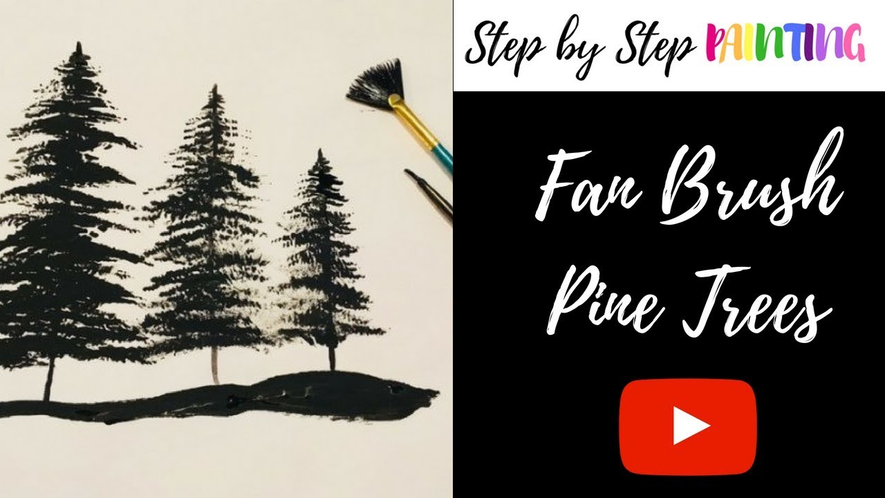 How To Paint Silhouette Trees  YouTube