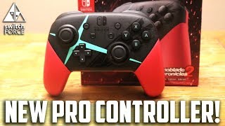 NEW Switch Pro Controller Unboxing - Xenoblade Chronicles 2 Pro Controller Unboxing