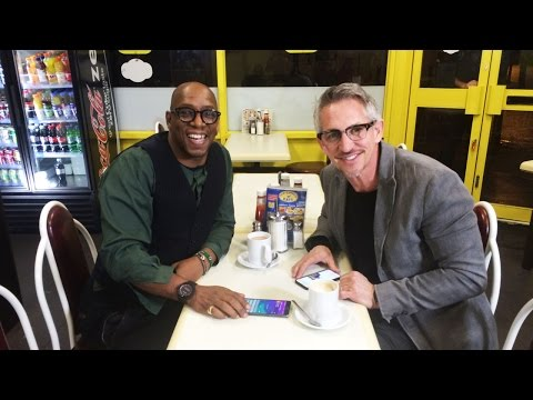 Gary Meets Ian Wright  On The Road To FA Cup Glory