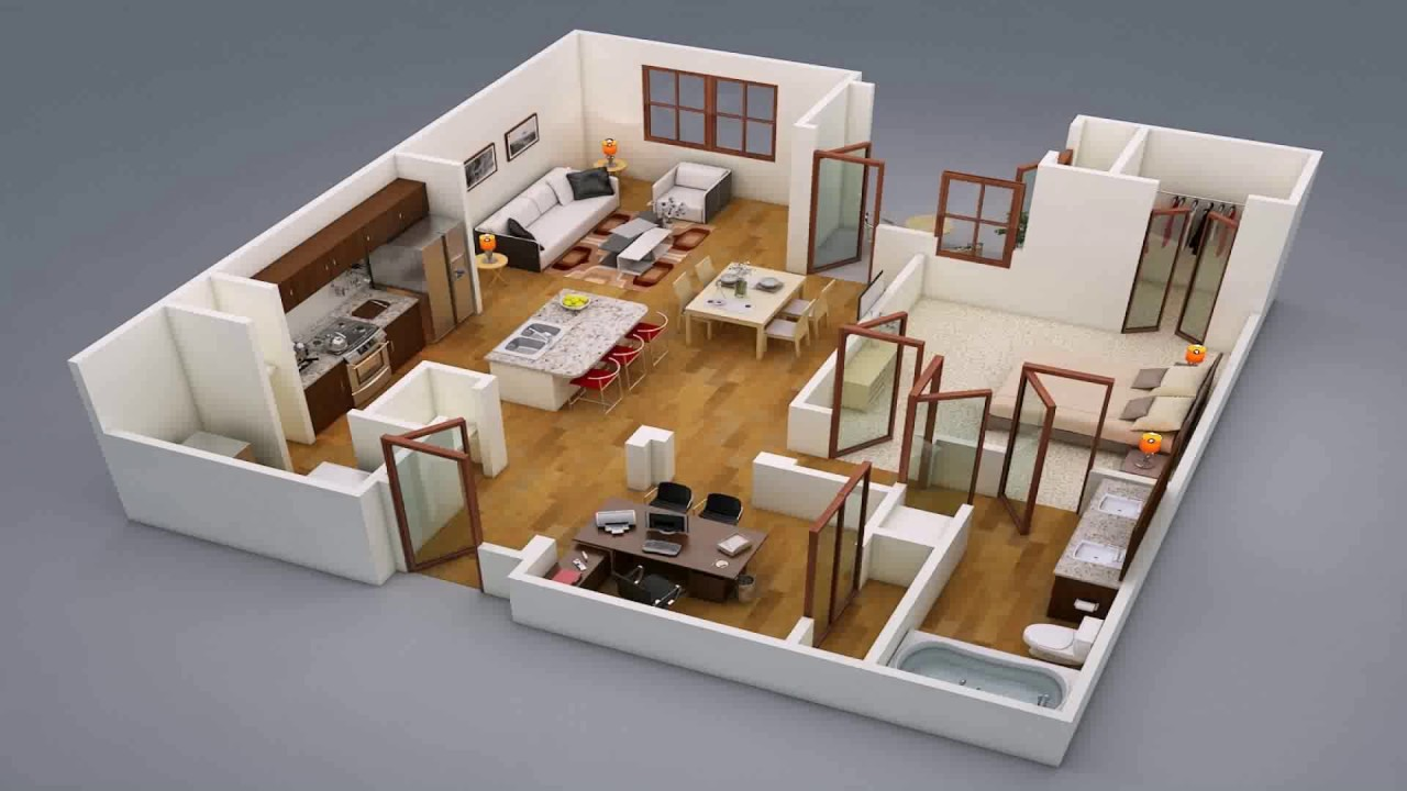 House Plan Design 4 Rooms Part 59