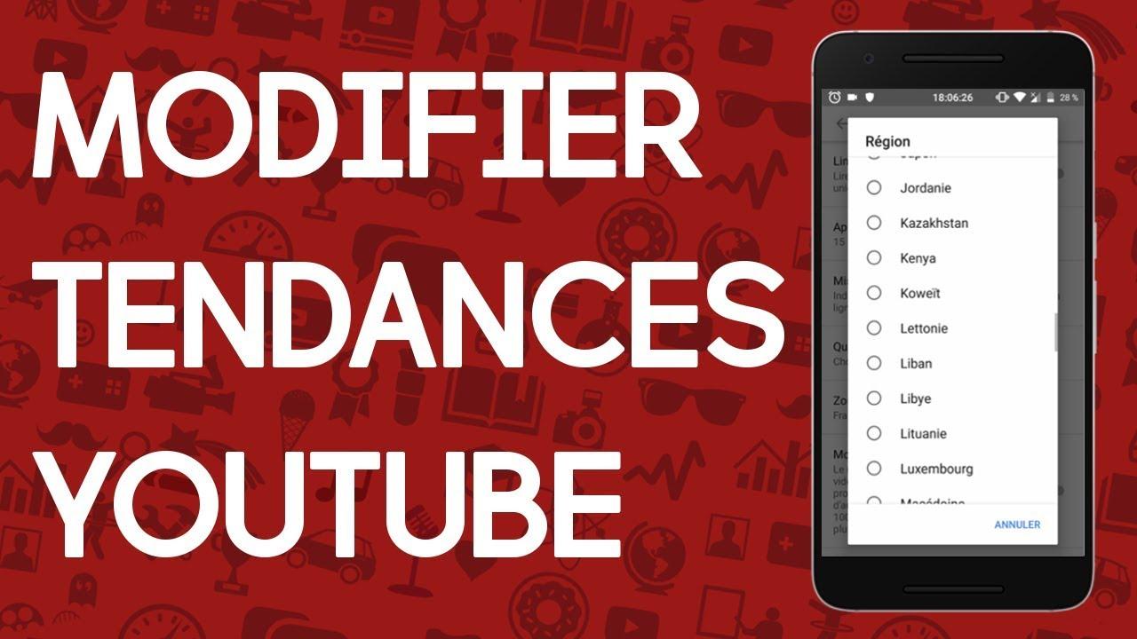 avoir les tendances youtube d un autre pays tutoriel
