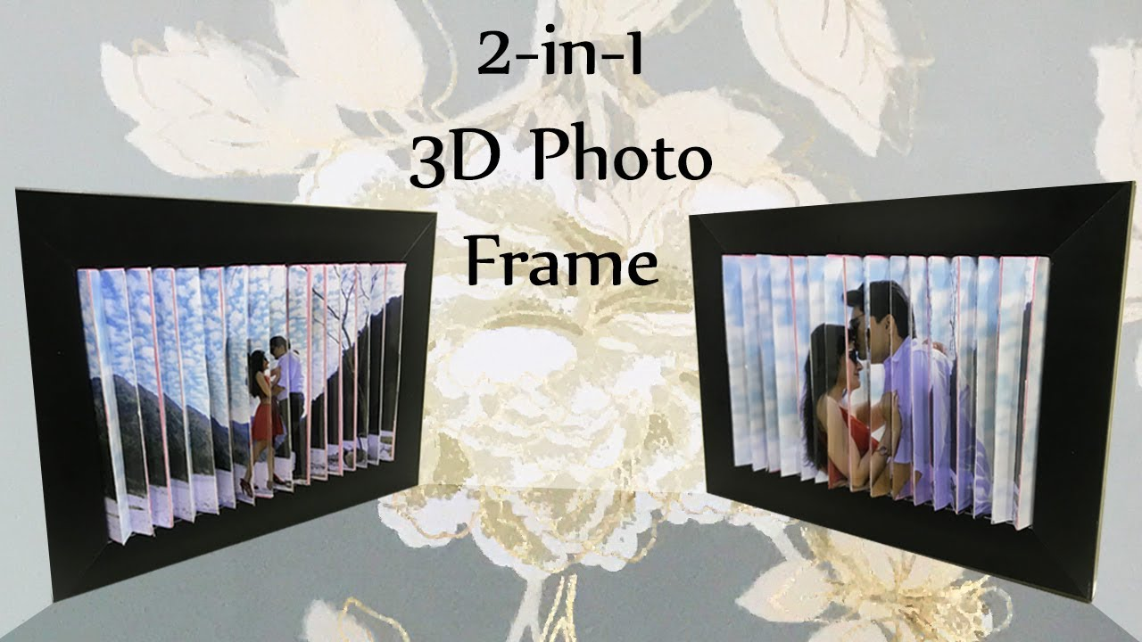 3d Photo Frame Diy 2 Pictures In 1 3d Optical Illusion Picture