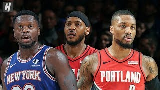 Portland Trail Blazers vs New York Knicks - Full  Highlights | January 1, 2020 | 2019-20 NBA Season