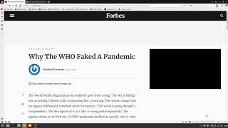 "Forbes 2010 Article ""Why the WHO Faked a Pandemic"" PLEASE SHARE!"
