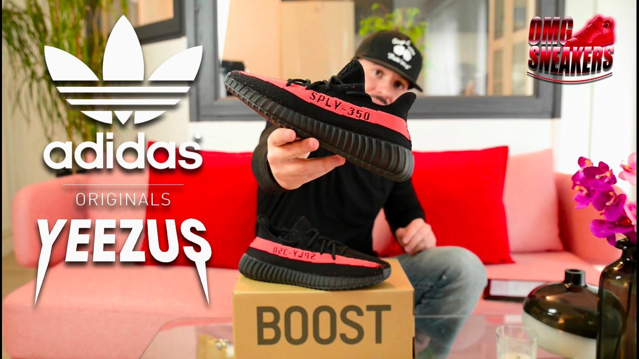 The adidas Yeezy Boost 350 v2 Black Red Welcomes February