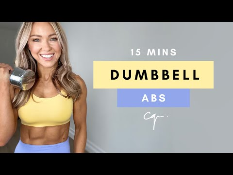 15 Min DUMBBELL ABS WORKOUT at Home | Follow Along No Repeat