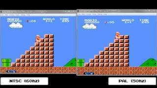 Super Mario Bros. Synched NTSC vs PAL
