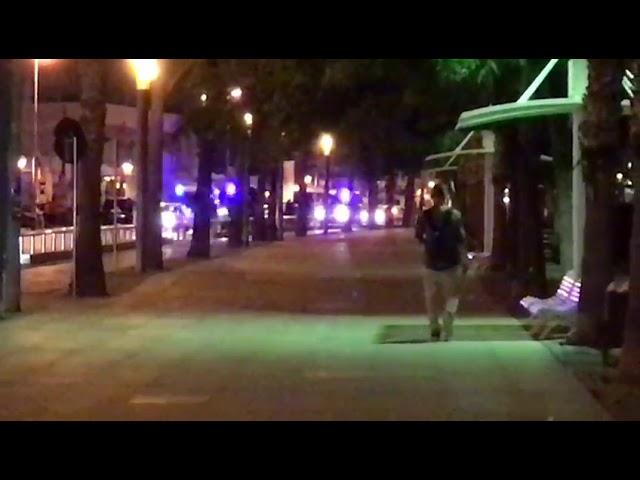 Momento del atentado en Cambrils
