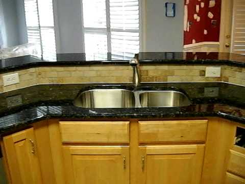 Granite Countertops installed VERDE BUTTERFLY in
