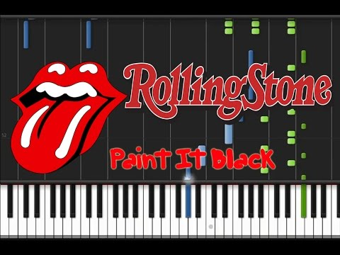 The Rolling Stones - Paint It Black [Synthesia Tutorial]