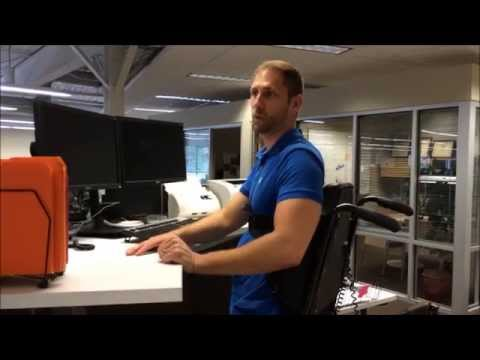 Paraplegic Standing At The Office 2017 01 13