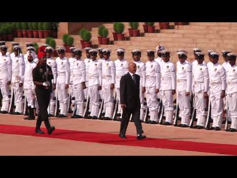 State Visit  (The President of Afghanistan)  at  Rashtrapati  Bhavan  on  28-4-2015