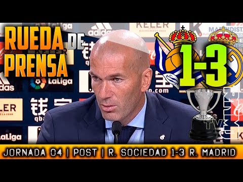Real Sociedad 1-3 Real Madrid Rueda de prensa ZIDANE (17/09/17) | POST LIGA JORNADA 04