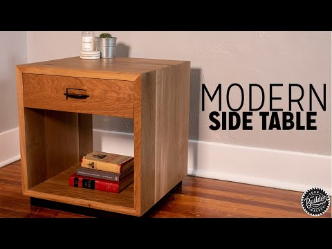 How To Build A Modern Side Table