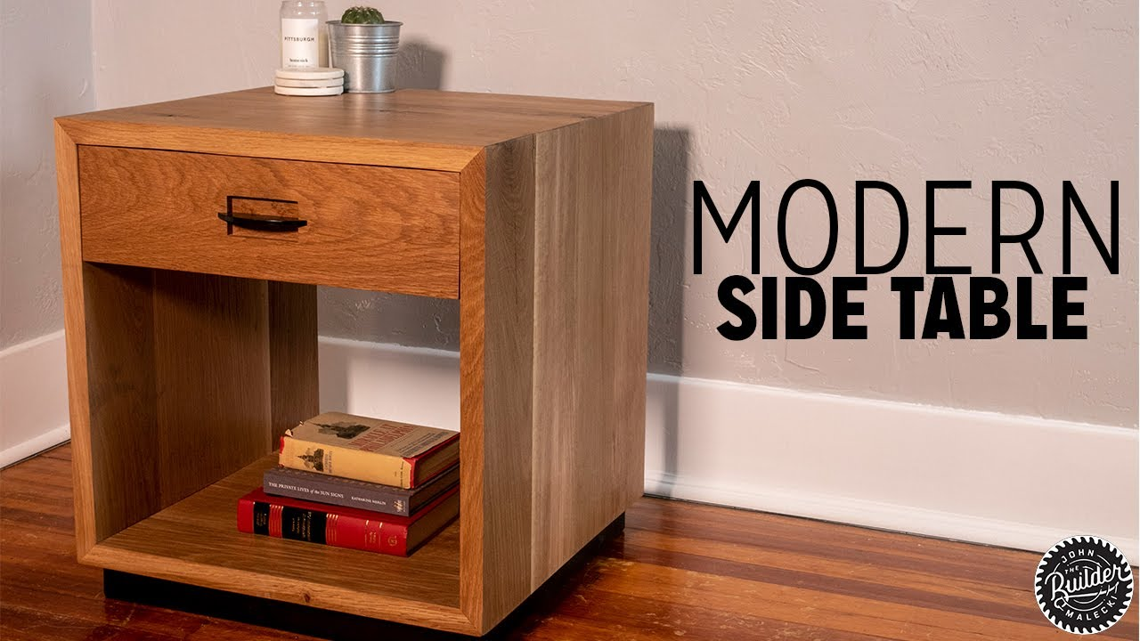 How To Build A Modern Side Table You