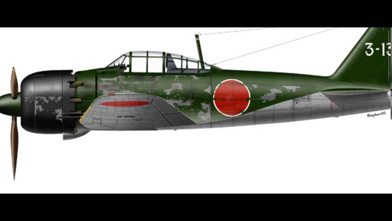mitsubishi a6m zero profiles ww2 - perfiles mitsubishi a6m zero ww2