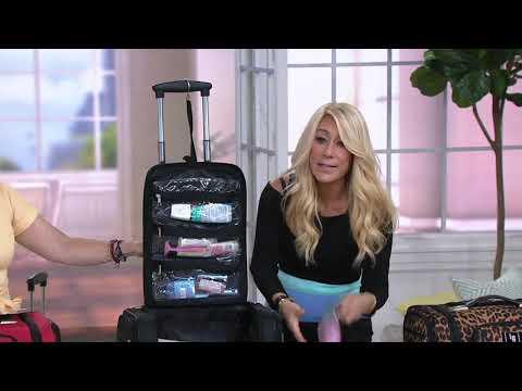 Weekender Travel Bag with Set of 2 Toiletry Bags by Lori Greiner on QVC